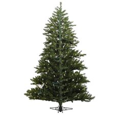 <strong>Vickerman Co.</strong> Minnesota Pine Westbrook 6.5' Green Artificial Half Christmas Tree with 400 Clear Lights with Stand