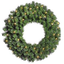 "Douglas Fir 42"" Wreath with Clear Lights"