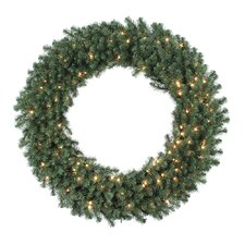 "Douglas Fir 48"" Wreath with Clear Lights"
