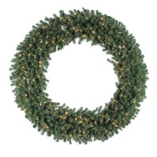 "Douglas Fir 60"" Wreath with Clear Lights"