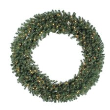 "Douglas Fir 84"" Wreath with Clear Lights"
