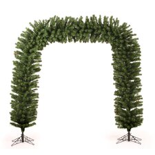 8' Opening Artificial Arch Tree with Clear Lights