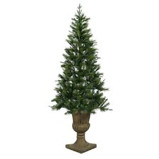 <strong>Vickerman Co.</strong> Oneco Pine 6.5' Half Potted Artificial Christmas Tree