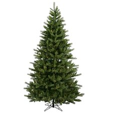 Black Hills Spruce 6.5' Green Artificial Christmas Tree with 500 Clear Lights with Stand