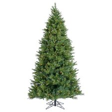 Butte Mixed Pine 7.5' Green Artificial Christmas Tree with 850 Clear Lights with Stand