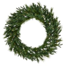 "Glacier Mixed Pine 60"" Wreath with Clear Lights"