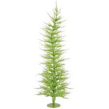 <strong>Vickerman Co.</strong> Colorful Laser Chartreuse 5' Green Artificial Christmas Tree with 100 Green Lights