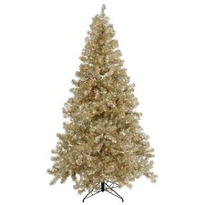 Champagne 7' Artificial Christmas Tree with 500 Clear Mini Lights