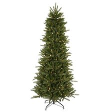 "Vermont Instant Shape 6' 6"" Green Artificial Christmas Tree with 450 Clear Dura-Lit Mini Lights with Stand"