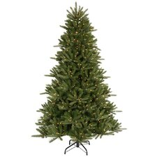 "Vermont Instant Shape 6' 6"" Green Artificial Christmas Tree with 600 Clear Dura-Lit Mini Lights with Stand"