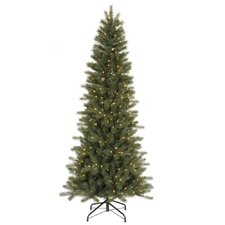 Blue Spruce Instant Shape 7.5' Green Artificial Christmas Tree with 450 Clear Dura-Lit Mini Lights with Stand