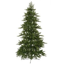 Jersey Frasier Fir 7.5' Green Artificial Wall Christmas Tree with Stand