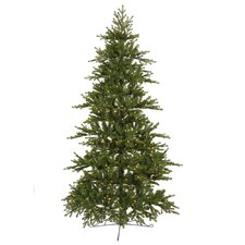 Jersey Frasier Fir 7.5' Green Artificial Christmas Tree with 450 Clear Dura-Lit Mini Lights with Stand