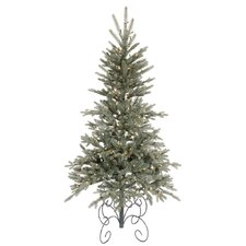 <strong>Vickerman Co.</strong> Blue Jersey Frasier Fir 7' Green Artificial Christmas Tree with 350 Clear Dura-Lit Mini Lights