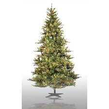 Country Pine 12' Green Slim Pine Artificial Christmas Tree with 1900 Pre-Lit Clear Lights with Stand
