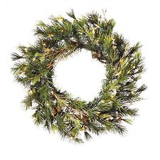 <strong>Vickerman Co.</strong> Prelit Country Pine Wreath with Clear Lights