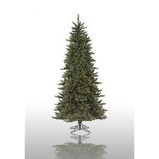 Camdon Fir 8.5' Green Slim Fir Artificial Christmas Tree with 800 Pre-Lit Clear Lights with Stand