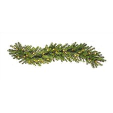 50' Prelit Douglas Fir Garland with Clear Lights