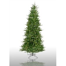 Tiffany Spruce 7.5' Green Slim Artificial Christmas Tree with 550 Pre-Lit Multicolored Lights with Stand