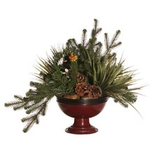 Floral Artificial Potted Cosmos Pine Branch in Green