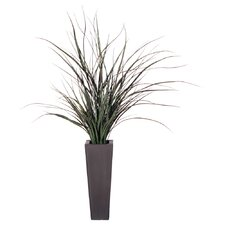 "Floral 38"" Artificial Potted Grass in Green"