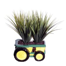 Floral Grass Desk Top Plant in Pot