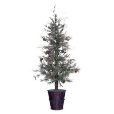 Cedar with Cones Feathered Pine Deluxe Tree in Pot
