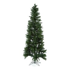 Salem Pencil Pine 7.5' Green Artificial Christmas Tree with 350 Clear Lights with Stand