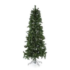 7' Green Newport Mix Pine Artificial Christmas Tree with 350 Clear Mini Lights with Stand