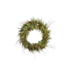 <strong>Vickerman Co.</strong> Cedar Twig Pine Cone Wreath with 110 Tips