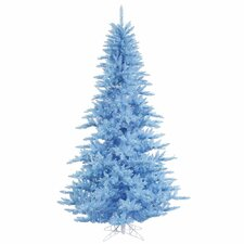 6.5' Sky Blue Fir Artificial Christmas Tree with 600 Mini Clear Lights