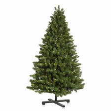 Grand Teton 7.5' Medium Green Artificial Christmas Tree with 750 LED White Lights