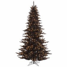 7.5' Black Fir Artificial Christmas Tree with 750 Mini Clear Lights