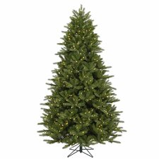 Majestic 7' Green Frasier Christmas Tree with 950 LED Lights Clear with Stand