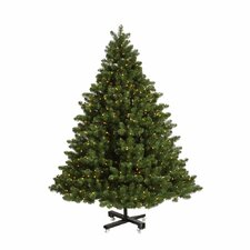 Grand Teton 7.5' Green Artificial Christmas Tree with 850 LED White Lights