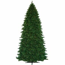 Grand Teton 12' Green Artificial Christmas Tree with 2100 LED White Lights