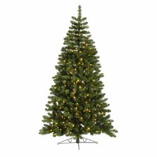 <strong>Vickerman Co.</strong> Grand Teton 7.5' Green Half Artificial Christmas Tree with 250 LED White Lights