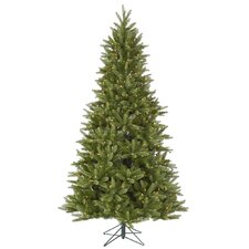 Bradford 7.5' Green Pine Artificial Christmas Tree with 550 Dura-Lit Clear Lights with Stand