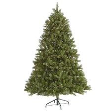 Belvedere 7.5' Green Spruce Artificial Christmas Tree with 680 LED White Lights with Stand