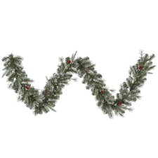 Frosted Pine Berry Garland with 50 Lights