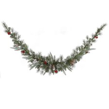 Frosted Pine Berry Swag Garland