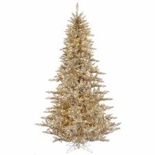 6.5' Champagne Fir Artificial Christmas Tree with 600 Mini Clear Lights