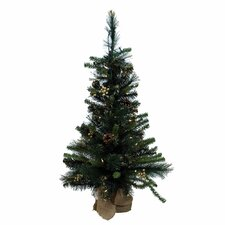 <strong>Vickerman Co.</strong> Glitter Mixed Pine Table Top Tree with 50 Lights