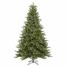 <strong>Vickerman Co.</strong> King 7.5' Green Spruce Artificial Christmas Tree with 700 LED Multicolored Lights with Stand