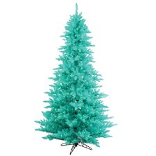6.5' Aqua Fir Artificial Christmas Tree with 600 Mini Clear Lights