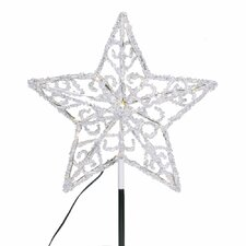 Iced LED Star Tree Topper