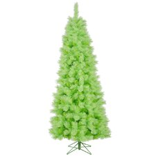 Cashmere 7' Lime Artificial Christmas Tree with Stand