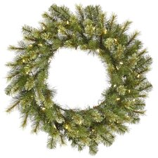 Jack Pine Wreath with 100 LED Lights