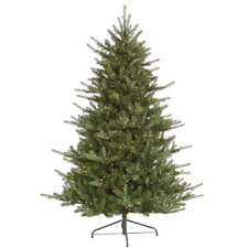 Colorado 7.5' Green Spruce Artificial Christmas Tree with 700 Dura-Lit Clear Lights with Stand