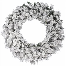 Flocked Snow Ridge Wreath with 224 Tips